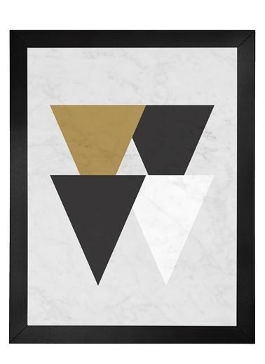 Nordbagen Marble Triangles Poster Siyah